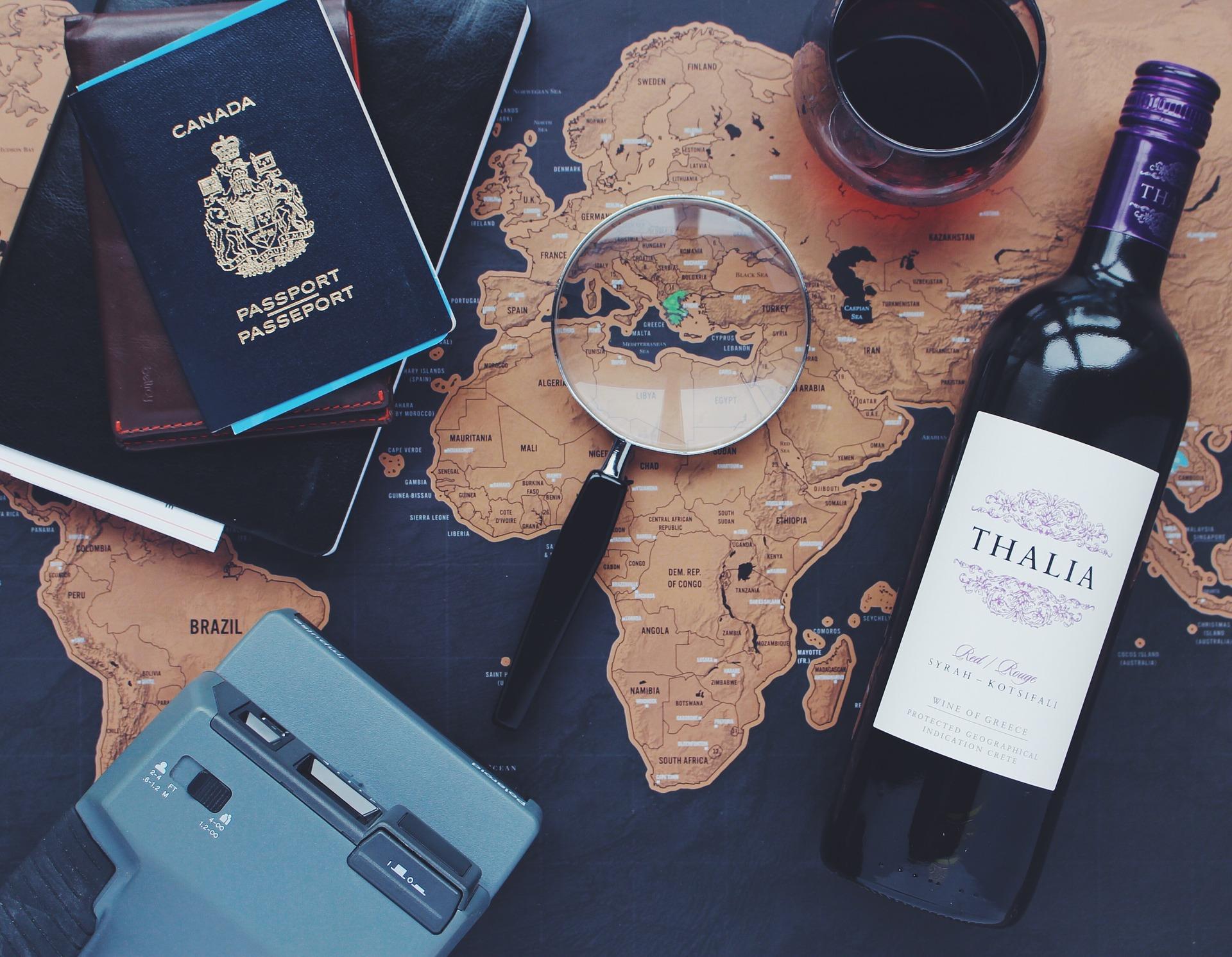 rejseforberedelser på kort